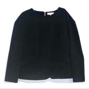 NWOT - Kenar Classy Black Back Zipper Top